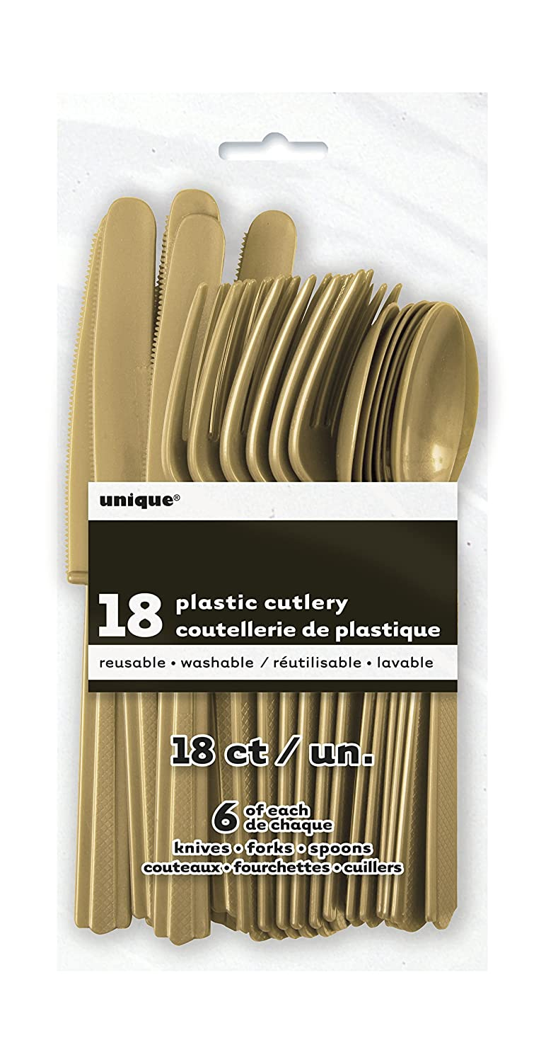 Amazon.com: Red Plastic Silverware Set for 6 Guests (18pcs): Kitchen & Dining