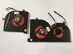 HK-part Fan Replacement for MSI GS63VR Series GS63VR 6RF GS63VR 7RF GS63VR Stealth Pro MS-16K2 MS-17B1 BS5005HS-U2L1 BS5005HS-U2F1 Gpu CPU Cooling Fan Cooler