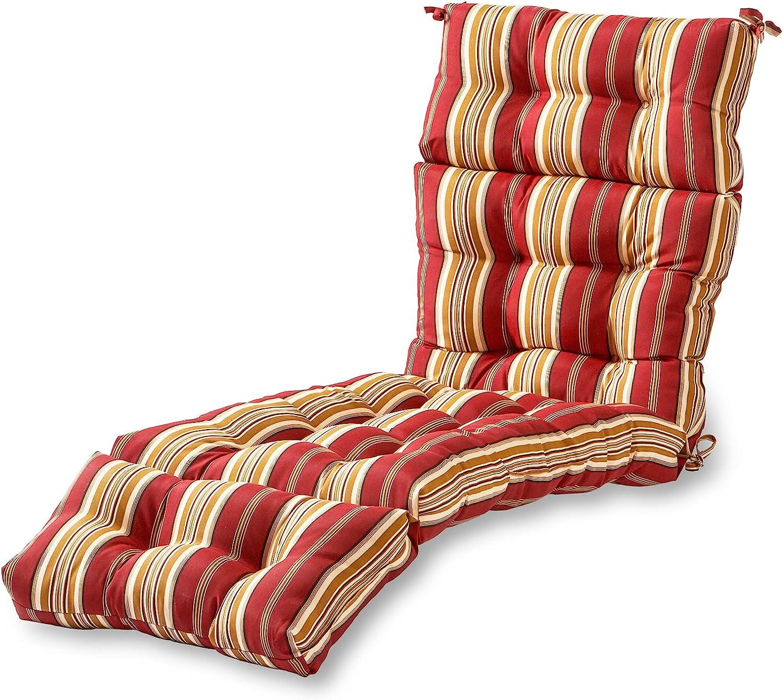 Greendale Home Fashions AZ4804-ROMASTRIPE Tuscan Stripe 72 x 22-inch Outdoor Chaise Lounge Cushion