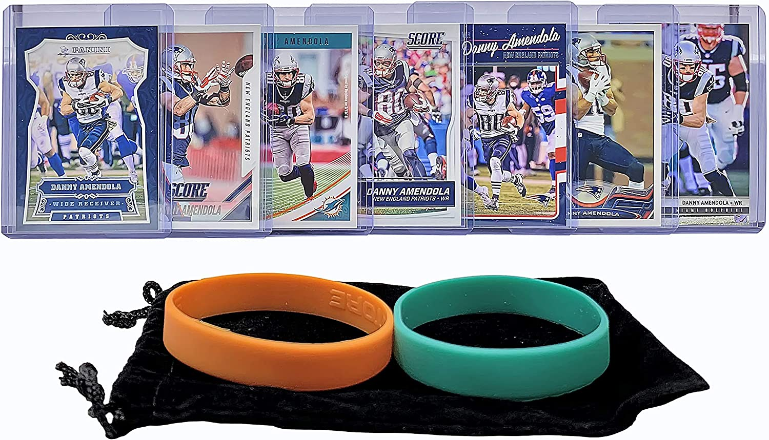 Miami Dolphins Trading Card Gift Set 7 Danny Amendola Football Cards Assorted Bundle