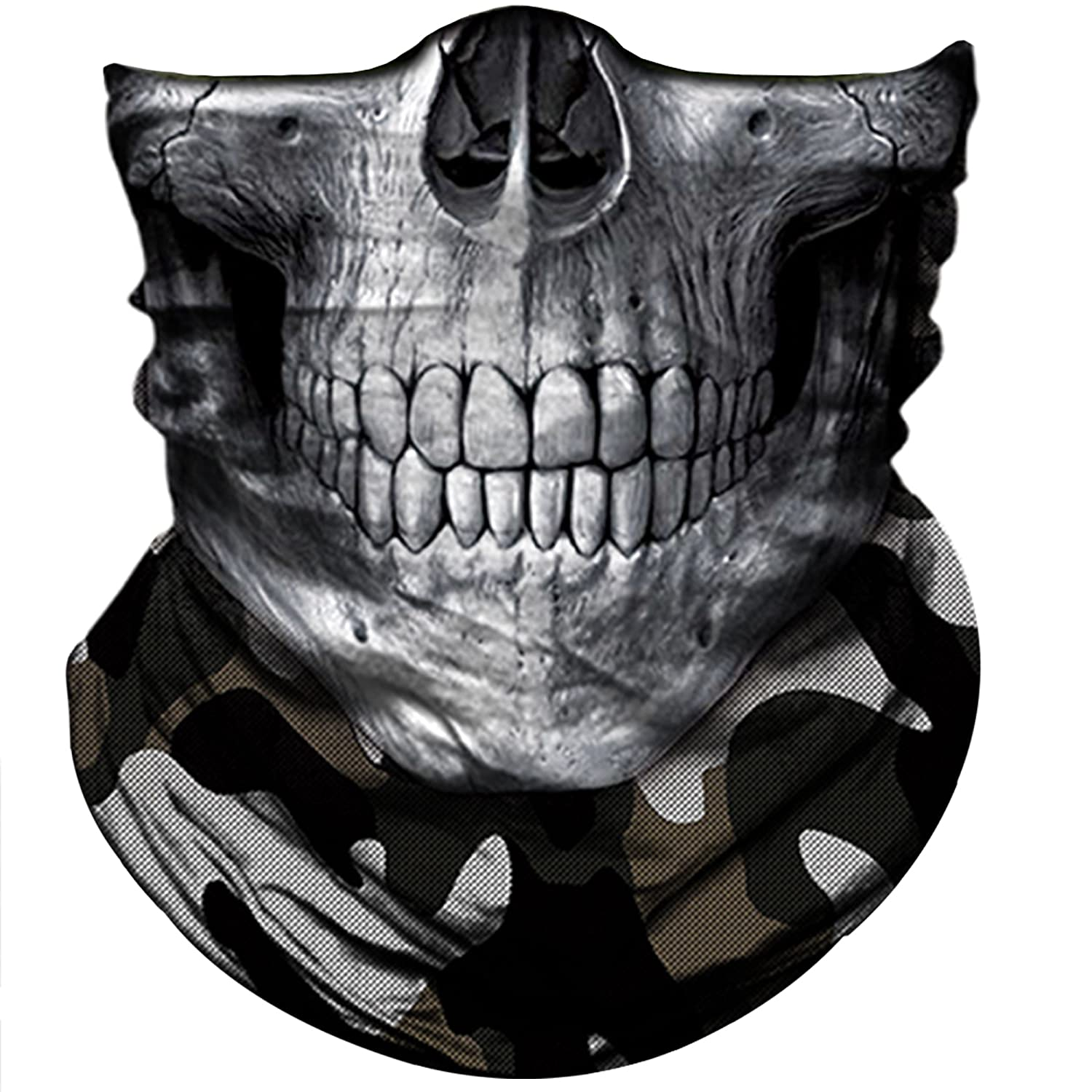Skull Face Bandana Mask Headwear Ski Motorcycle Cycling Hiking Obacle