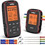 YIOU Wireless Meat Thermometer, 500ft Grill Thermometer 4 Probe Thermometer Ultra Accurate Fast Reading Food Cooking Grilling