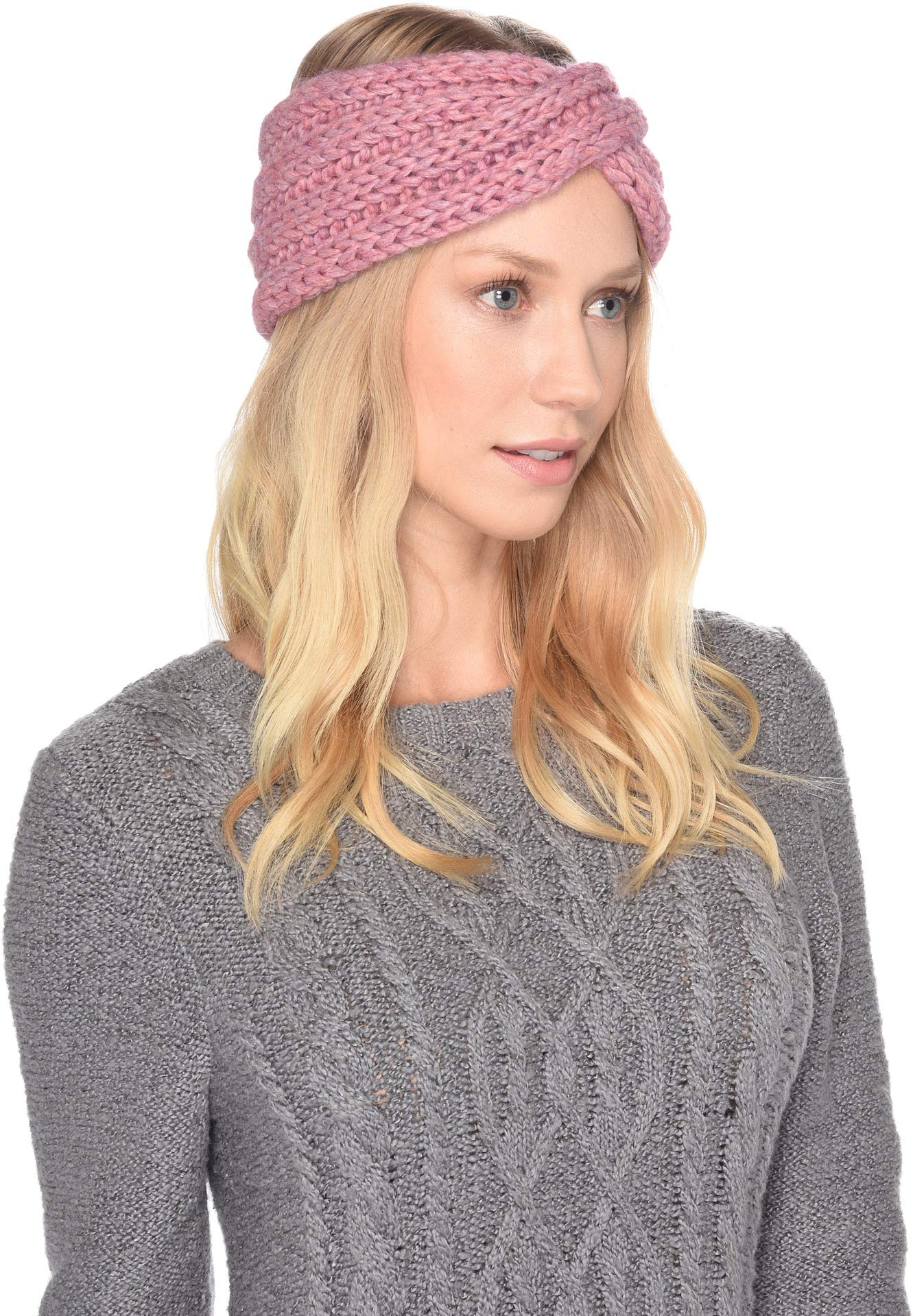 UGG Women's Chunky Knit Headwrap Pink One Size