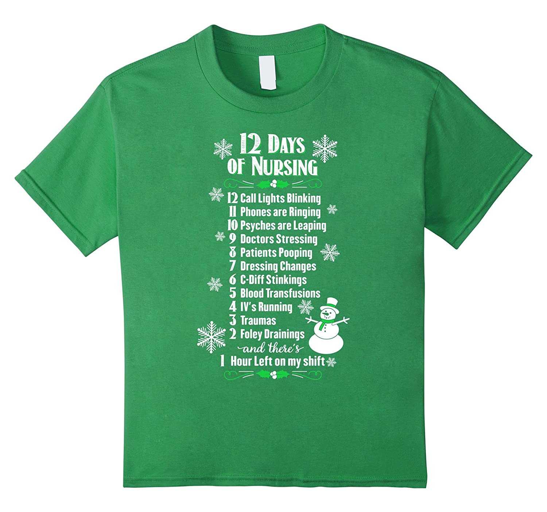 Amazon.com: 12 Days of Nursing - Funny Christmas Nurse Shirt: Clothing