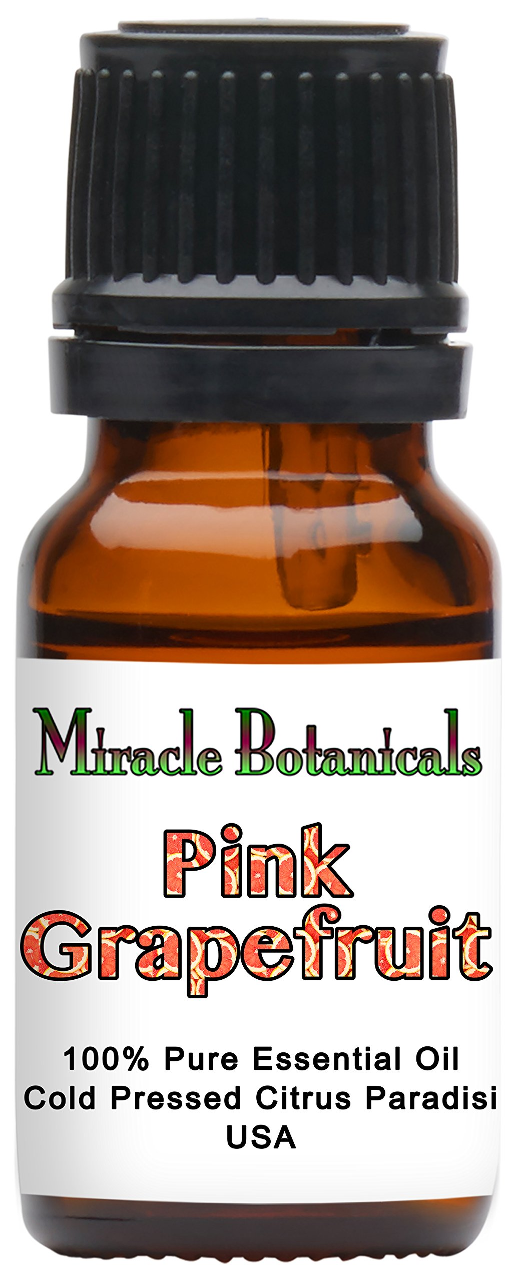Miracle Botanicals Pink Grapefruit Essential Oil - 100% Pure Citrus Paradisi - 10ml, 30ml or 60ml Sizes - Therapeutic Grade - 10ml