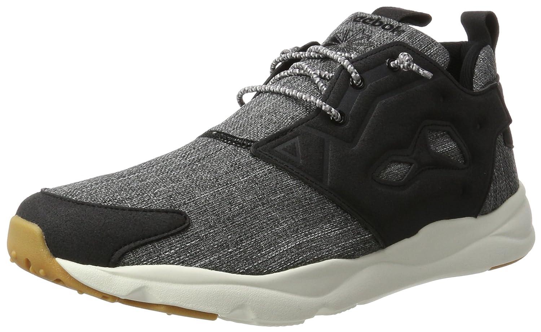Reebok Herren Furylite Refine Sneaker  41 EU|Schwarz (Black/Chalk-gum)