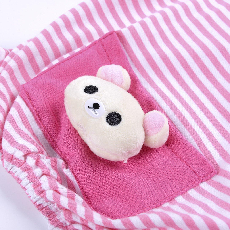 Woo Woo Pets Cute Animal Dog Cozy Pajams Dog Stripes Jumpsuit Pet Dog Clothes Pink XS by Woo Woo Pets (Image #4)