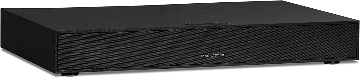 Magnasonic Soundbase TV Speaker System with Powerful 60W Sound, 2.1 Home Theater Audio with Built-in Subwoofer, Bluetooth, HDMI ARC, AUX, USB Playback, for Movies, Gaming & Music (SB41)