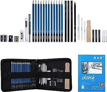 33-Piece H & B Sketching Pencils Set