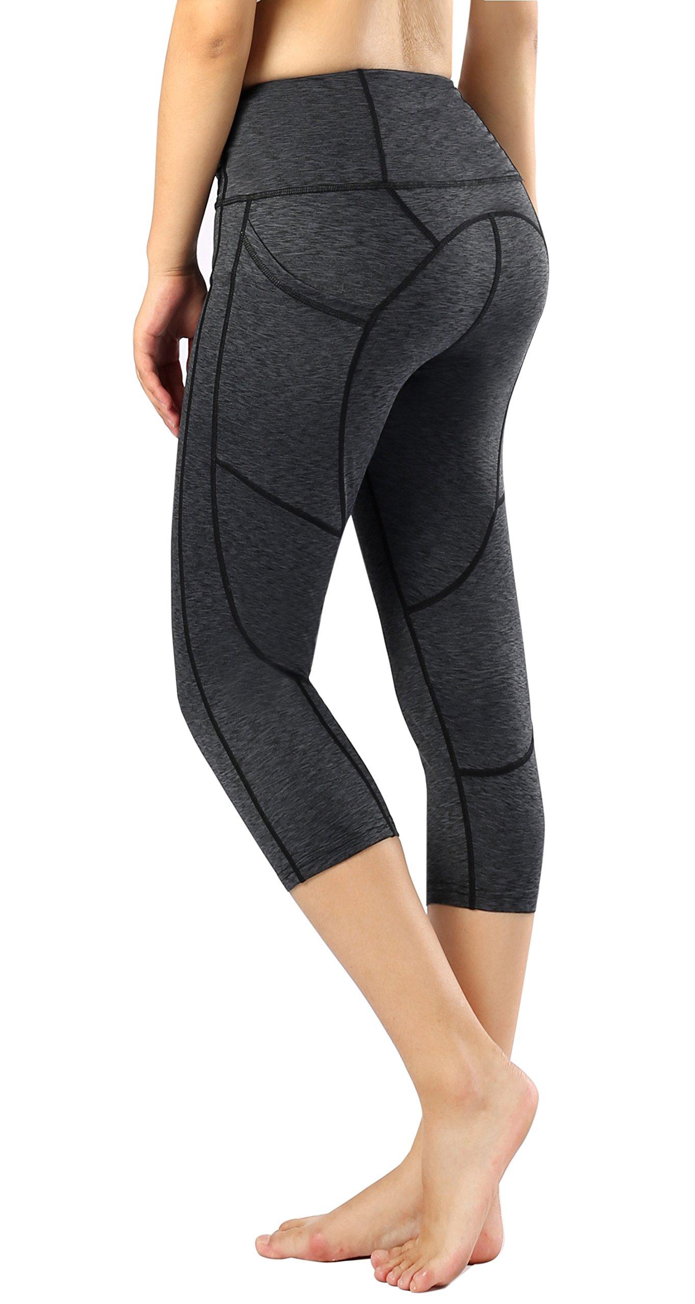 Sugar Pocket Women's Capris Tights Workout Running Leggings Yoga Pants S(09)