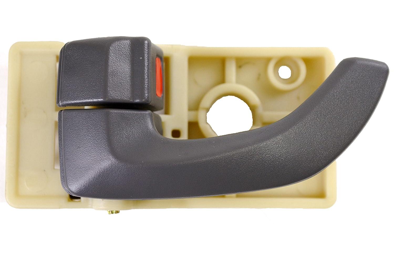 Driver Side PT Auto Warehouse HY-2503G-LH Gray Inside Interior Inner Door Handle