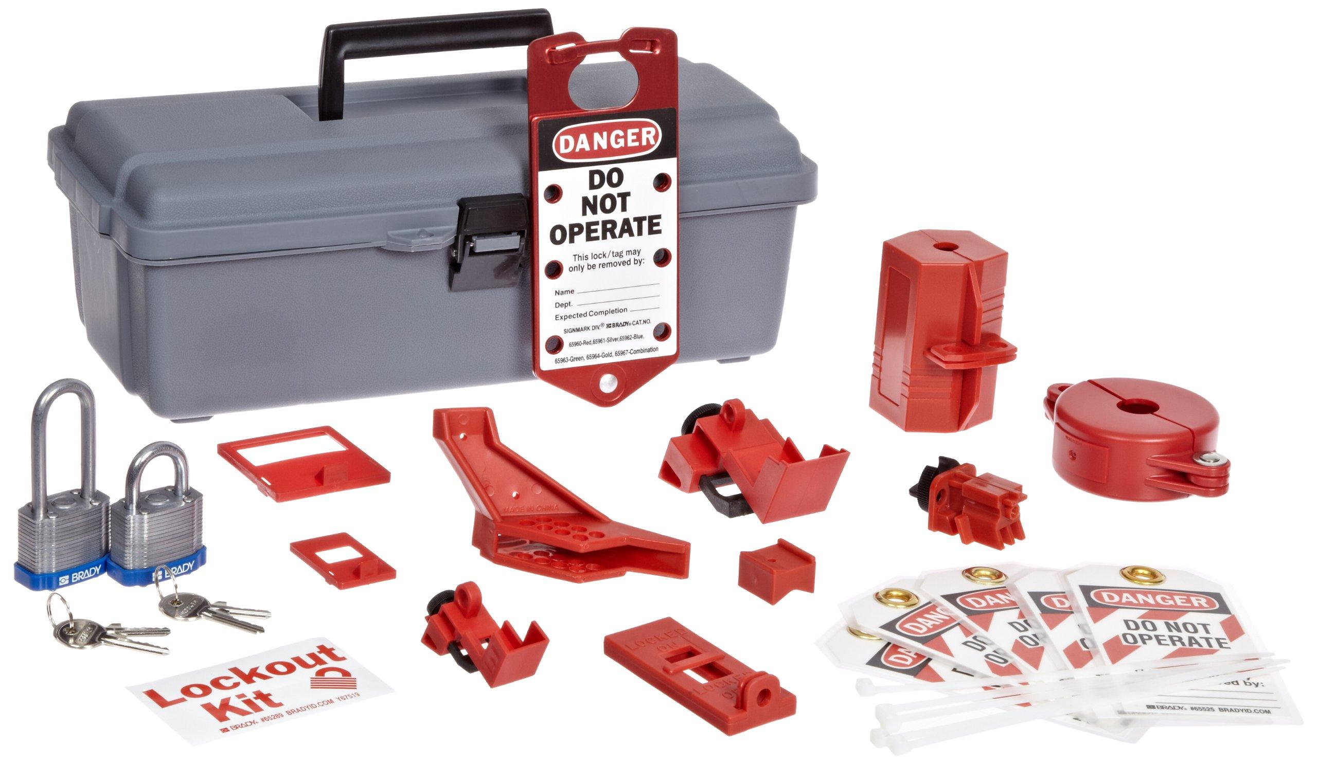 Brady 65289 Lockout Tool Box w/Components (1 Kit) by Brady