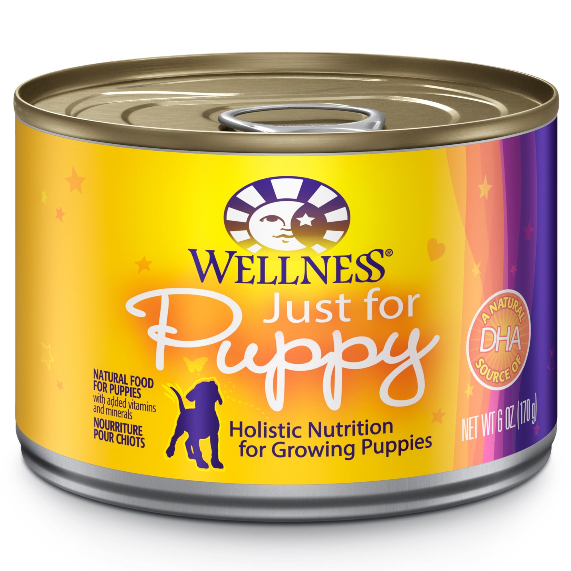 Wellness Complete Health Natural Wet Canned Puppy Food, Chicken & Salmon, 6-Ounce Can (Pack Of 24) by Wellness Natural Pet Food