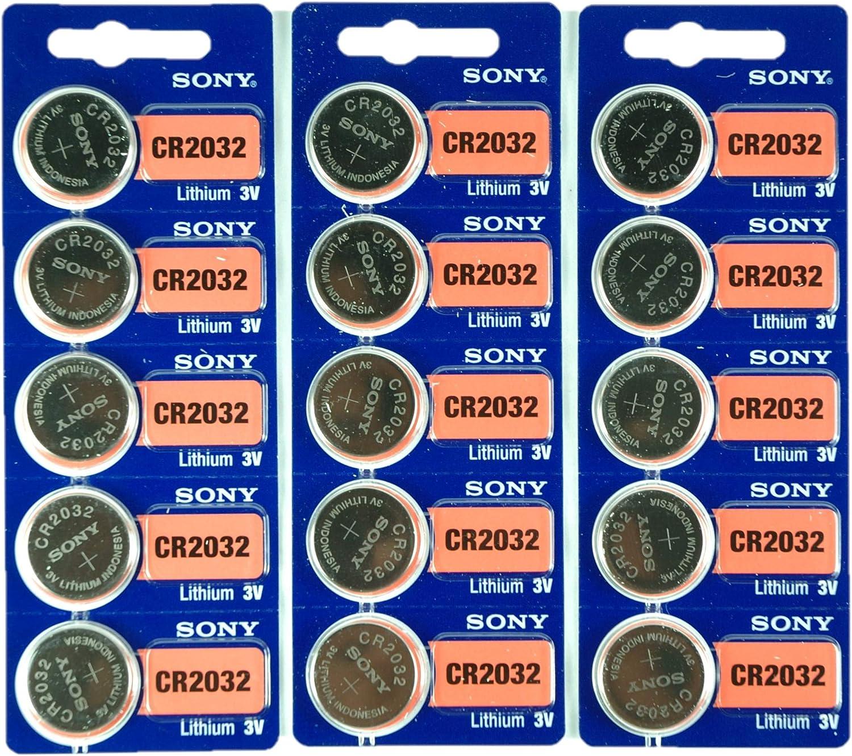 Sony Cr2032 Lithium Knopfbatterie 3 V 2032 15 Stück Uhren