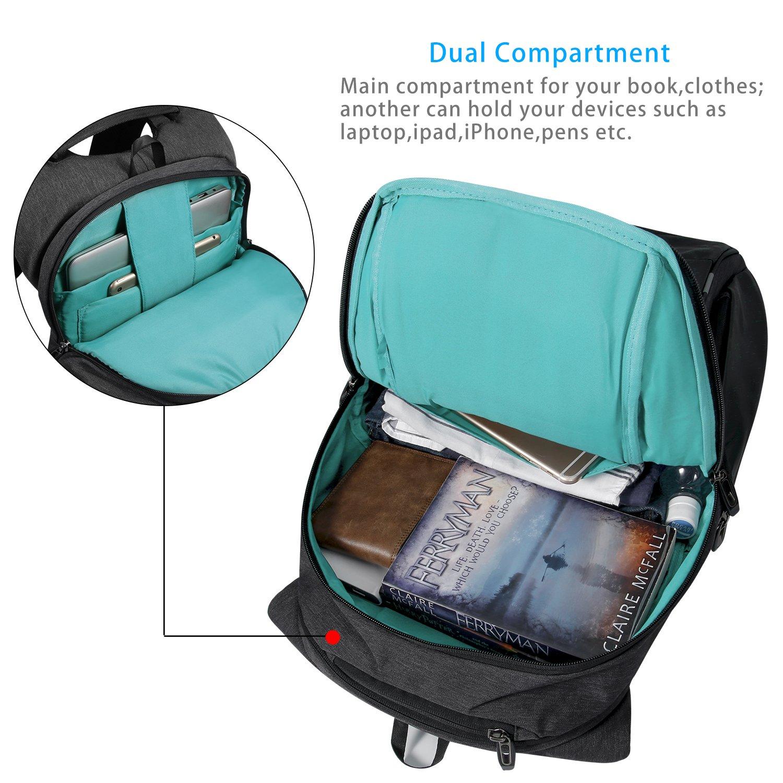 KAKA Laptop Backpack Night Light Reflective Waterproof and Durable ...