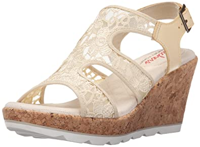 Skechers Cali Women's Turtledove Platform Sandal, Natural, 11 M US