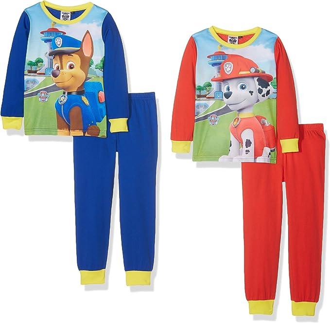 Paw Patrol Boys 2Pack PJ Conjuntos de Pijama, Multicolor (Royal/Redyellow), 5-6 Años (Pack de 2) para Niños: Amazon.es: Ropa y accesorios