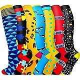 Copper Compression Socks for Women & Men Circulation , Best for Athletic Running Flight Travel Pregnant,Nursing, Hiking