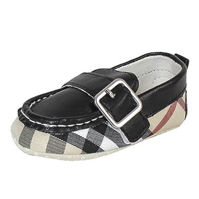 Abdc Kids Infant Black BB Print Loafers Boy Shoes