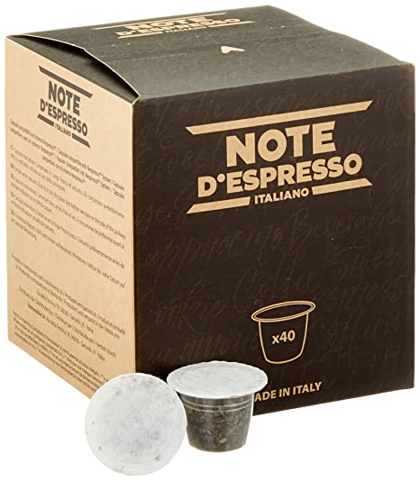 Note DEspresso - Cápsulas de menta poleo compatibles con cafeteras Nespresso, 2 g (caja de 40 unidades)