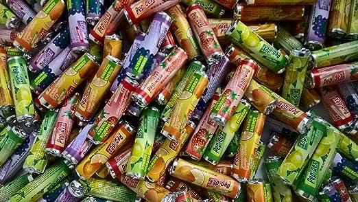 400 Traubenzucker Röllchen mit Fruchtgeschmack ! Top Giveaway Wurfmaterial Fasching