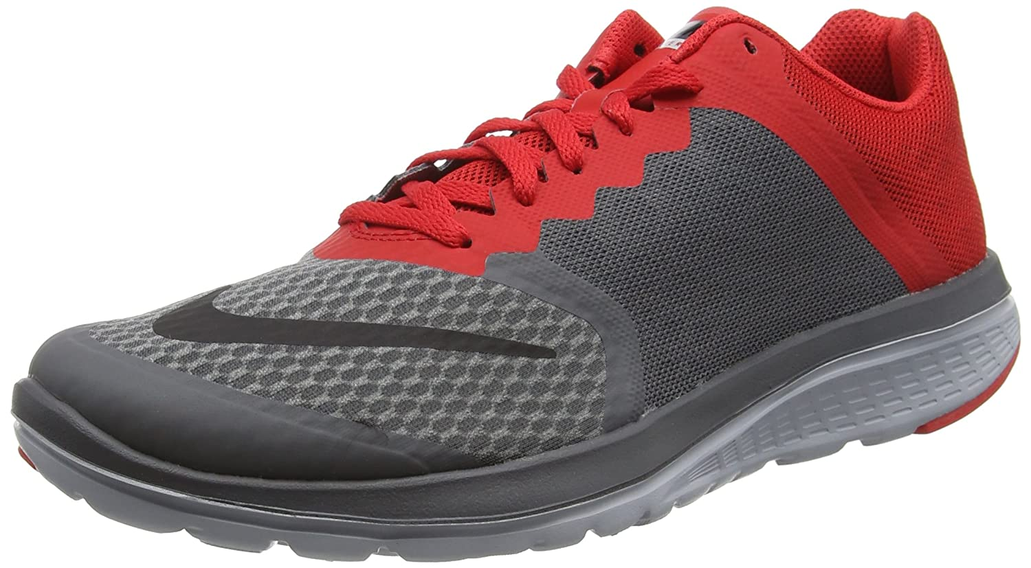 NIKE Men's Fs Lite 2 Running Shoe B0147VVCC2 13 D(M) US|Dark Grey/University Red/Wolf Grey/Black
