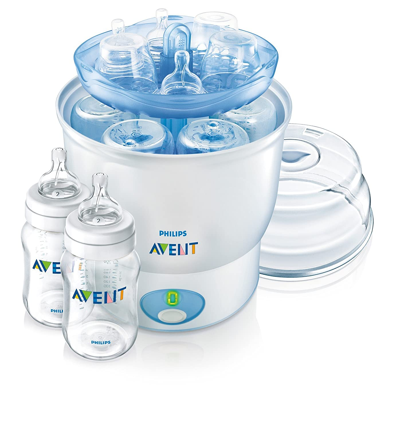 Amazon.com: Philips AVENT Esterilizador iQ24 con 2 botellas ...