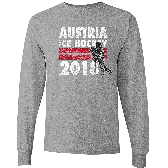 3d9db2893 Austria Ice Hockey 2018 Winter Sports Games Long Sleeve T Shirt - Small -  Sport Grey