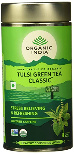 Organic India Classic Tulsi Green Tea, 100 gm: Amazon.in: Grocery
