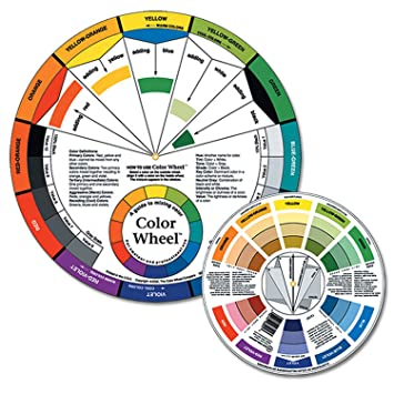 Amazon Pocket Color Wheel Artist Mixing Guide Watercolor Paint