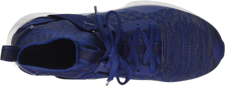 PUMA Ignite Evoknit, Chaussures de Running Compétition Mixte Adulte Bleu Blue Depths Quiet Shade Peacoat