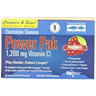Trace Minerals Research Electrolyte Stamina Power Pak, Raspberry (Pack of 2)