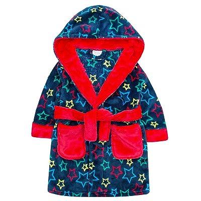 Boys Dressing Gown Thick Luxury Flannel Fleece 2-3y 3-4y 4-5y 5-6y