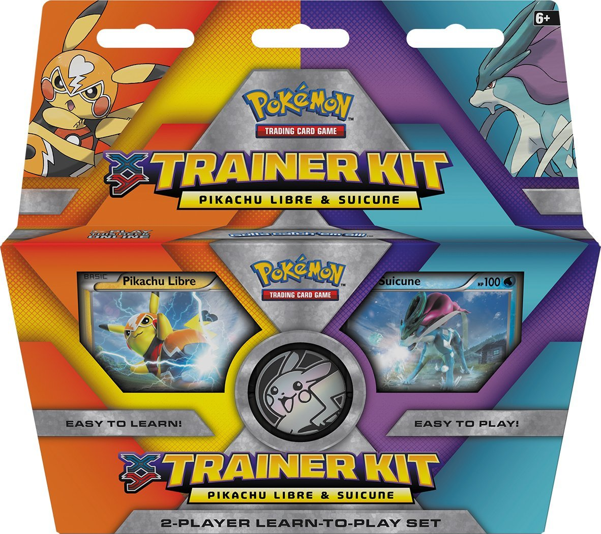 amazon com pokemon tcg xy trainer kit pikachu libre and suicune