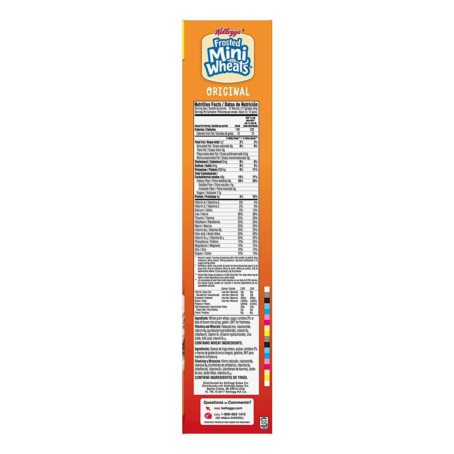 Kelloggs Breakfast Cereal, Frosted Mini-Wheats, Original, Low Fat, Excellent Source of Fiber, Family Size, 24 oz Box