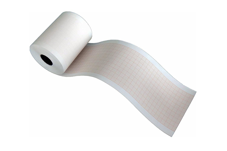 Rouleaux de papier thermique pour ECG compatibles avec Nihon Kohden RQS63-3/ Fukuda OP-110TE (63mm x 30m) La Tecnocarta Srl RI3706303016IFU