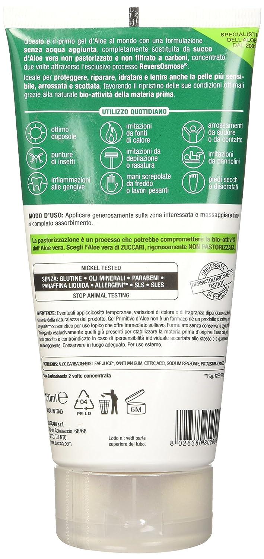 ZUCCARI [Aloe Vera] ² - gel de aloe no se trata, Paquete 1er (1 x 150 ml): Amazon.es: Belleza