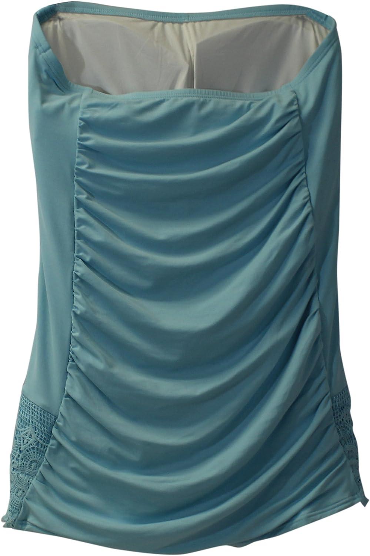 COCO RAVE Juniors Solid Bandeau Skirted Swim Dress XL 38 C Cup Cloud