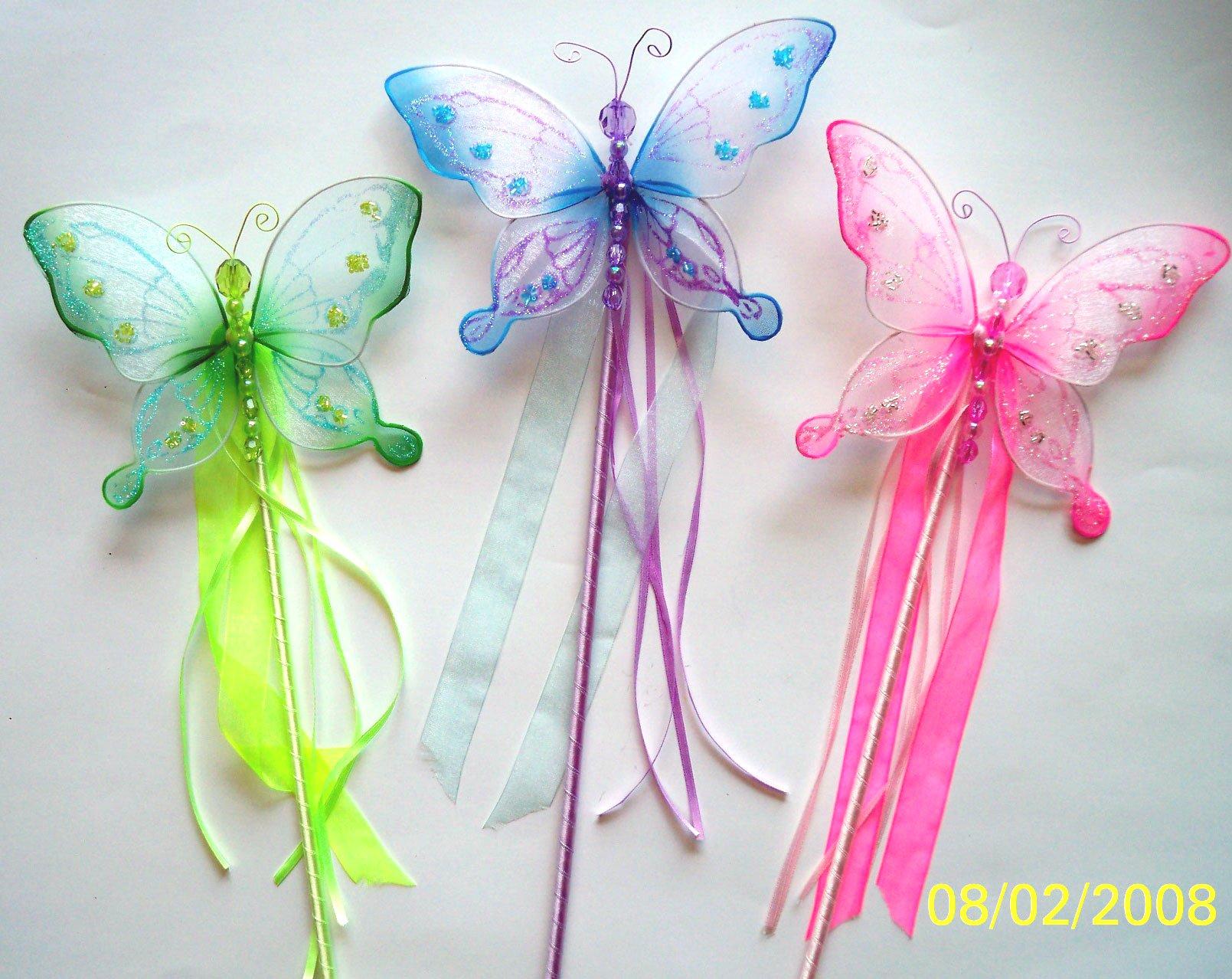 Butterfly Sheer Beaded Wand (3pcs)