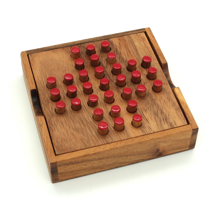amazon com wooden solitaire toys u0026 games