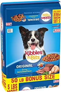 Kibbles 'N Bits Original Dry Dog Food Bonus Bag, 50 Lb