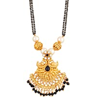 Apara Double Black Mani Mala Pendant Chain Mangalsutra for Women/Girls
