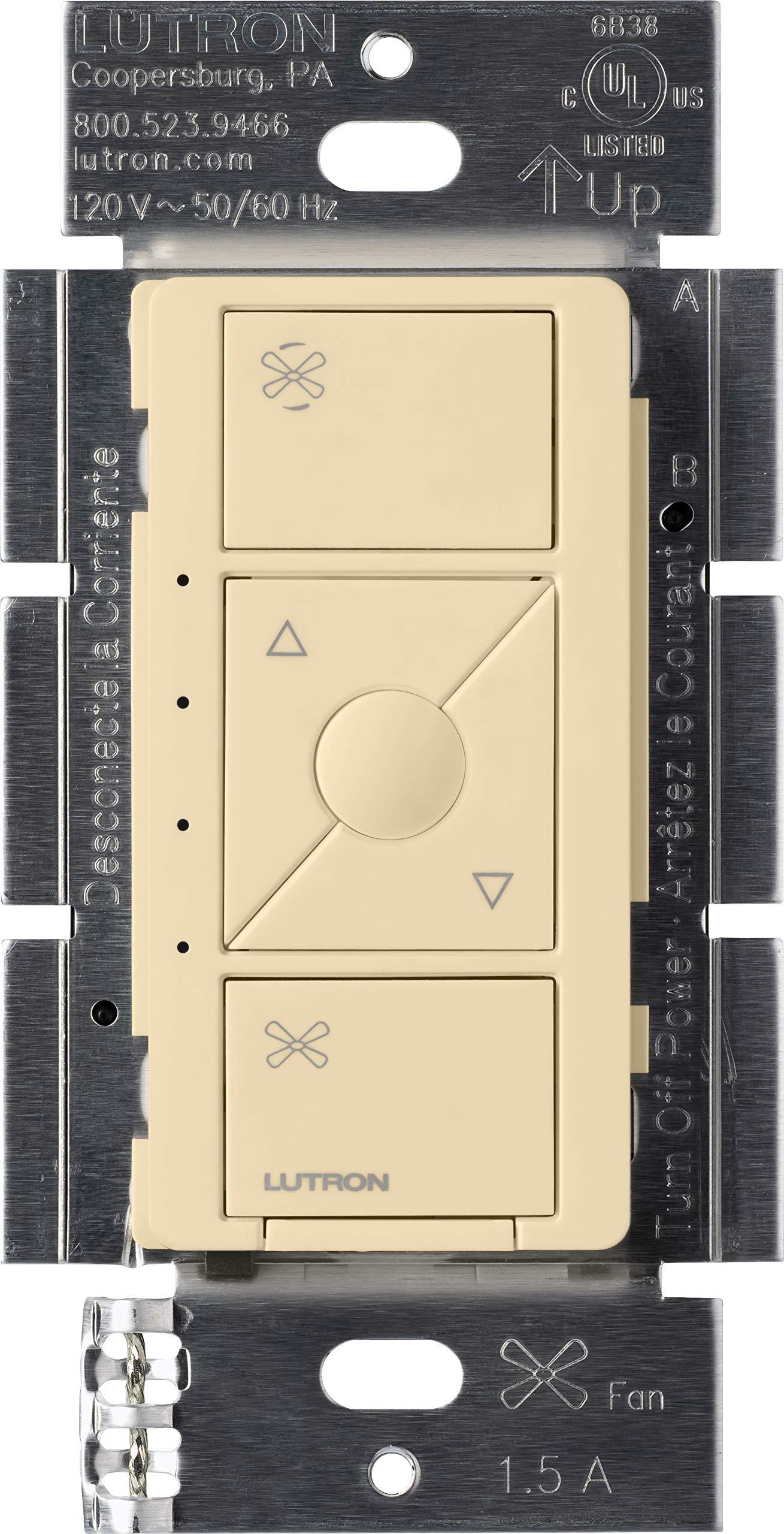 Lutron Caseta Wireless Smart Fan Speed Control, Single-Pole, PD-FSQN-IV, Ivory, Works with Alexa, Apple HomeKit, and the Google Assistant