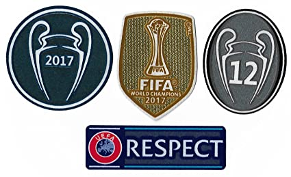 e5a86a02e Real Madrid FC Patch Set 2017-2018 La Duodecima Soccer Jersey Badges  Football Shirt Patches
