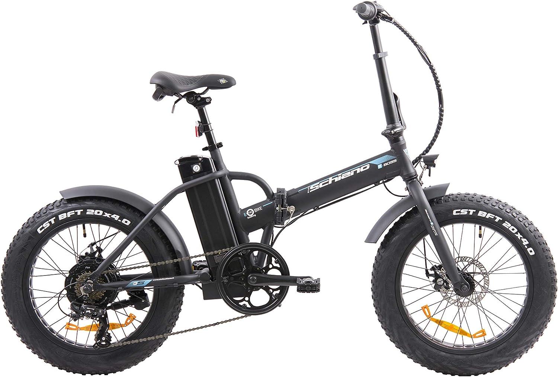 F.lli Schiano e- Boss Bicicleta, Unisex-Adult, Negro, 20