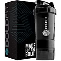 Boldfit Gym Spider Shaker Bottle 500ml with Extra Compartment, 100% Leakproof Guarantee, Ideal for Protein, Preworkout and BCAAs, BPA Free Material …