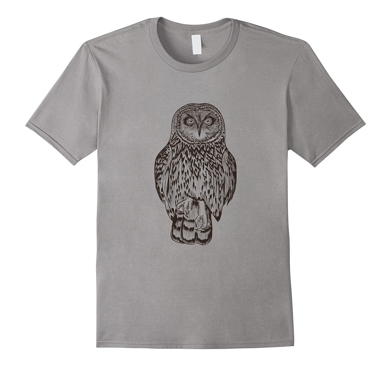 Barn Owl Line Art Print Short Sleeve T-Shirt for Men Women-BN