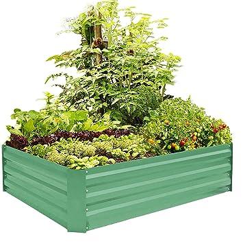 Amazon Com Foyuee Metal Raised Garden Bed Kit Elevated Planter Box