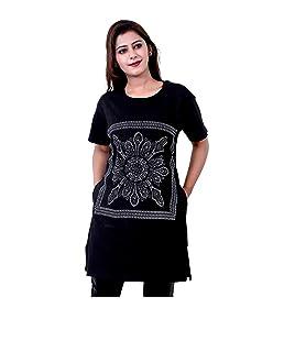 AG Fashion Women's Viscose Long T-Shirt (Black, XXL)