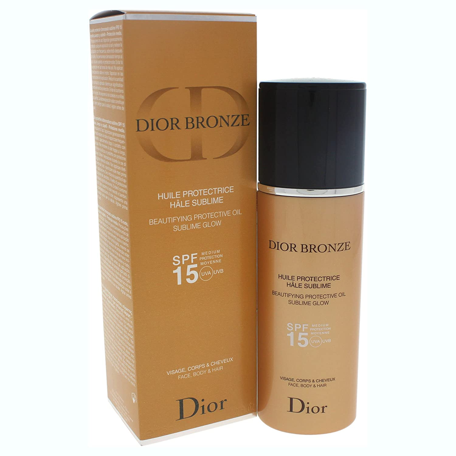 63ff7cab0 Amazon.com : Christian Dior Beautifying Dior Bronze Protective Oil Sublime  Glow SPF 15, 4.2 Ounce : Beauty